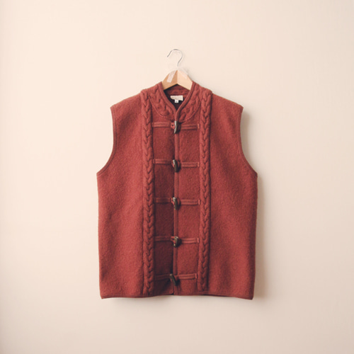 [vintage] sweet brown wool vest