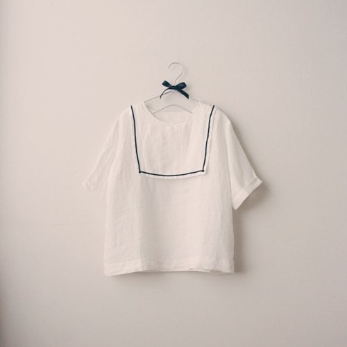 [by mani] marie sailor linen blouse (재입고)