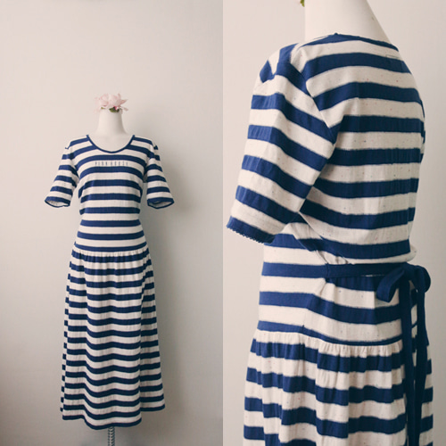 [vintage] pinkhouse stripe dress