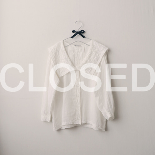 [by mani] antique lace collar blouse (white) (재입고)