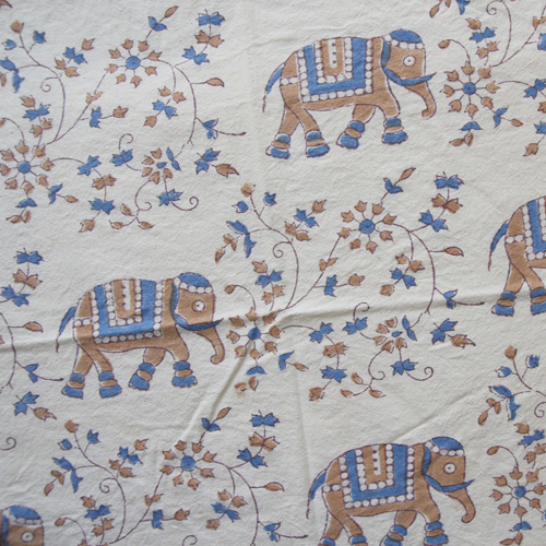 [vintage] pretty elephant india tapestry