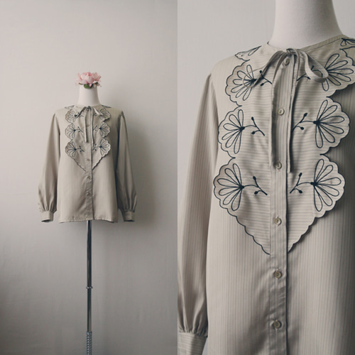 [vintage] hailey flower blouse