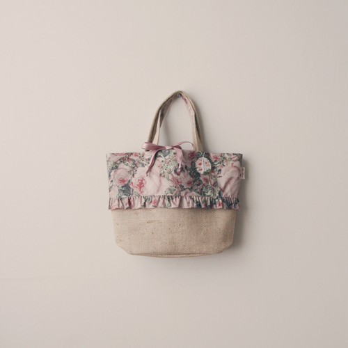 rose hemp tote bag