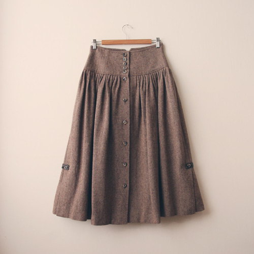 [vintage] antik herringbone skirt
