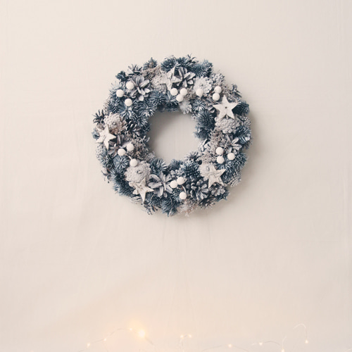 winter dry flower wreath