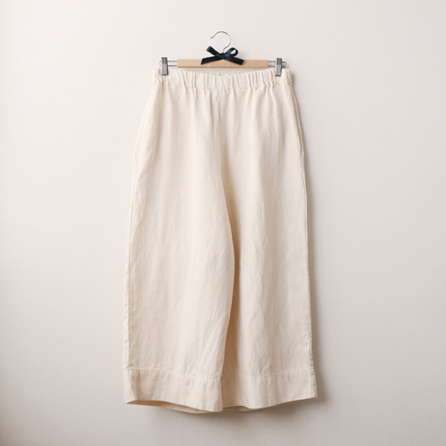 [by mani] linen wide pants (natural)