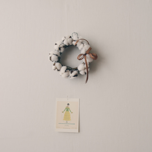 cotton bloom wreath