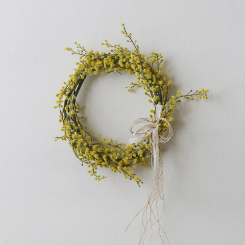 [by mani] spring mimosa wreath